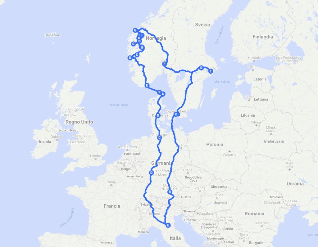 Scandinavia in treno: i paesi del nord Europa in treno in 3 settimane