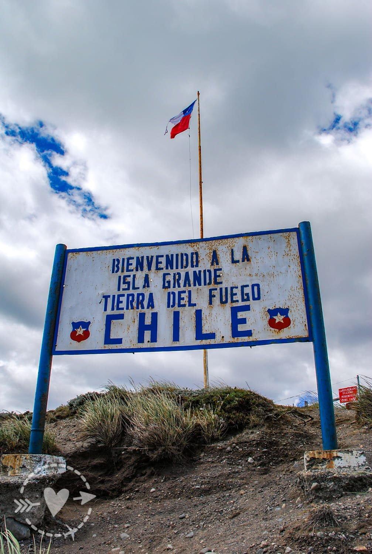 Cartello al confine col Cile