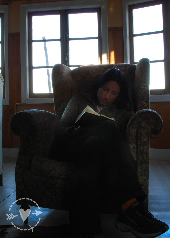 Scrivendo il diario di viaggio all'Estancia Tepi