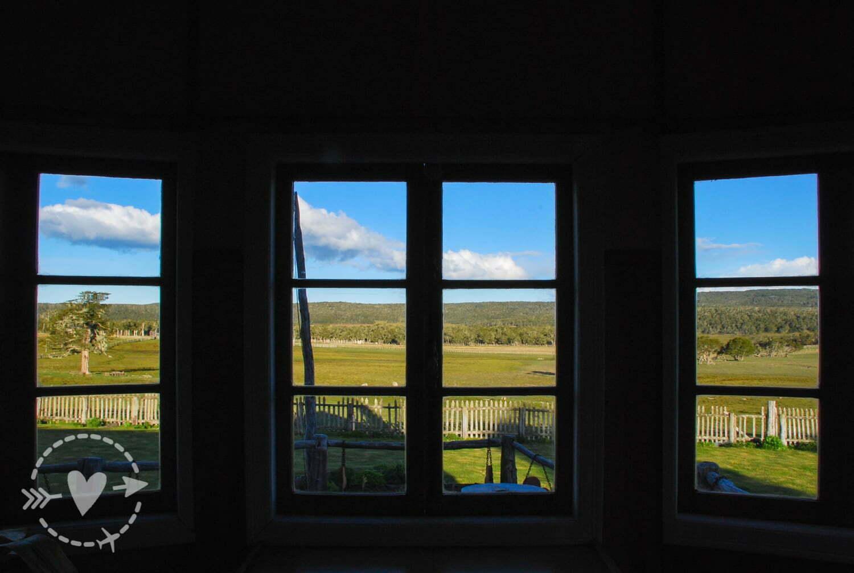 Vista dalla finestra dell'Estancia Tepi