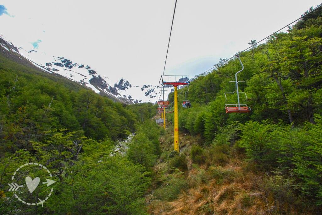 Seggiovia che porta al ghiacciaio Martial, Ushuaia