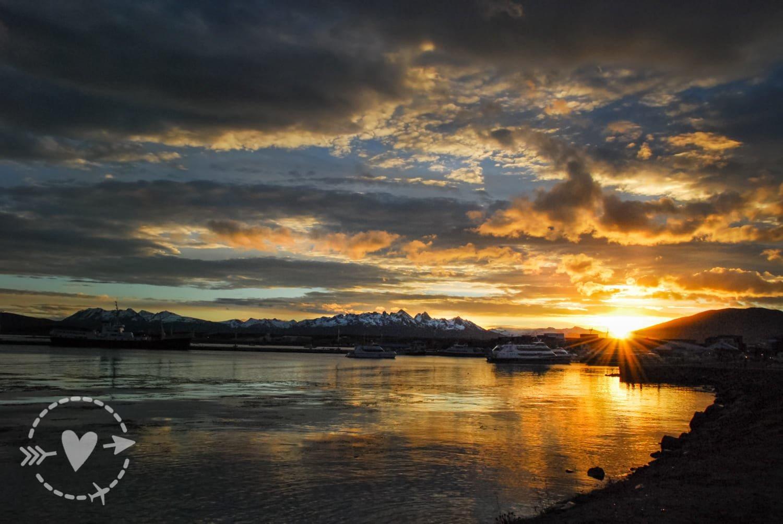 tramonto a Ushuaia, Argentina