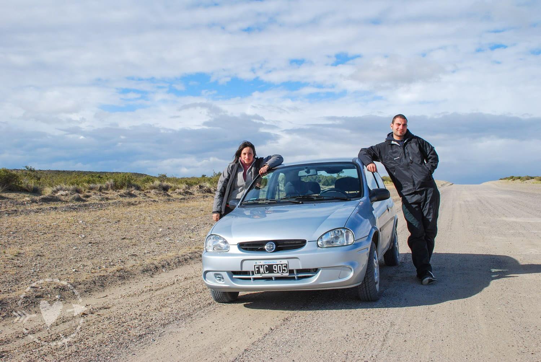 Auto noleggiata per il viaggio in Patagonia
