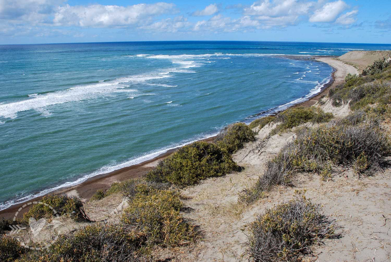 La spiaggia a Punta Norte