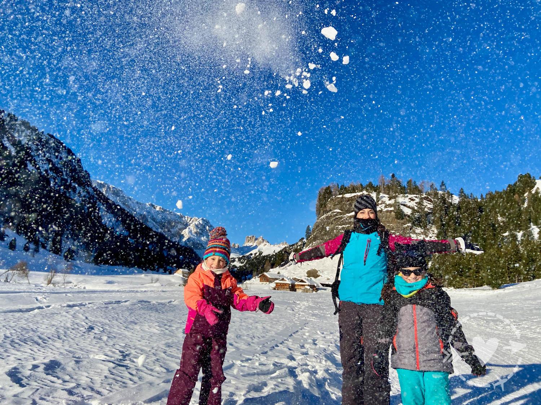 Tanta neve in inverno in Val Duron