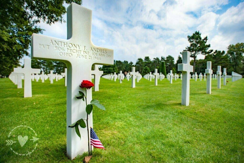Cimetière américain de Colleville-sur-Mer Normandy American Cemetery and Memorial, Colleville-sur-Mer, Francia